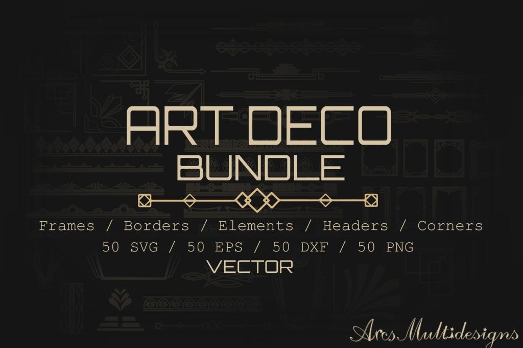 art deco vector bundle