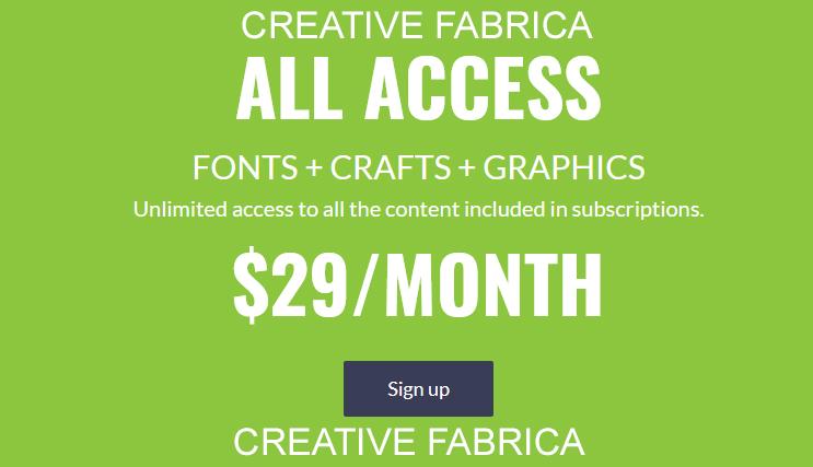 creative fabrica subscription plan