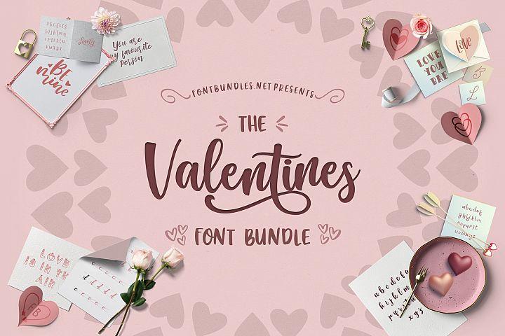 valentine font bundle