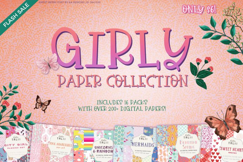 girly paper collection